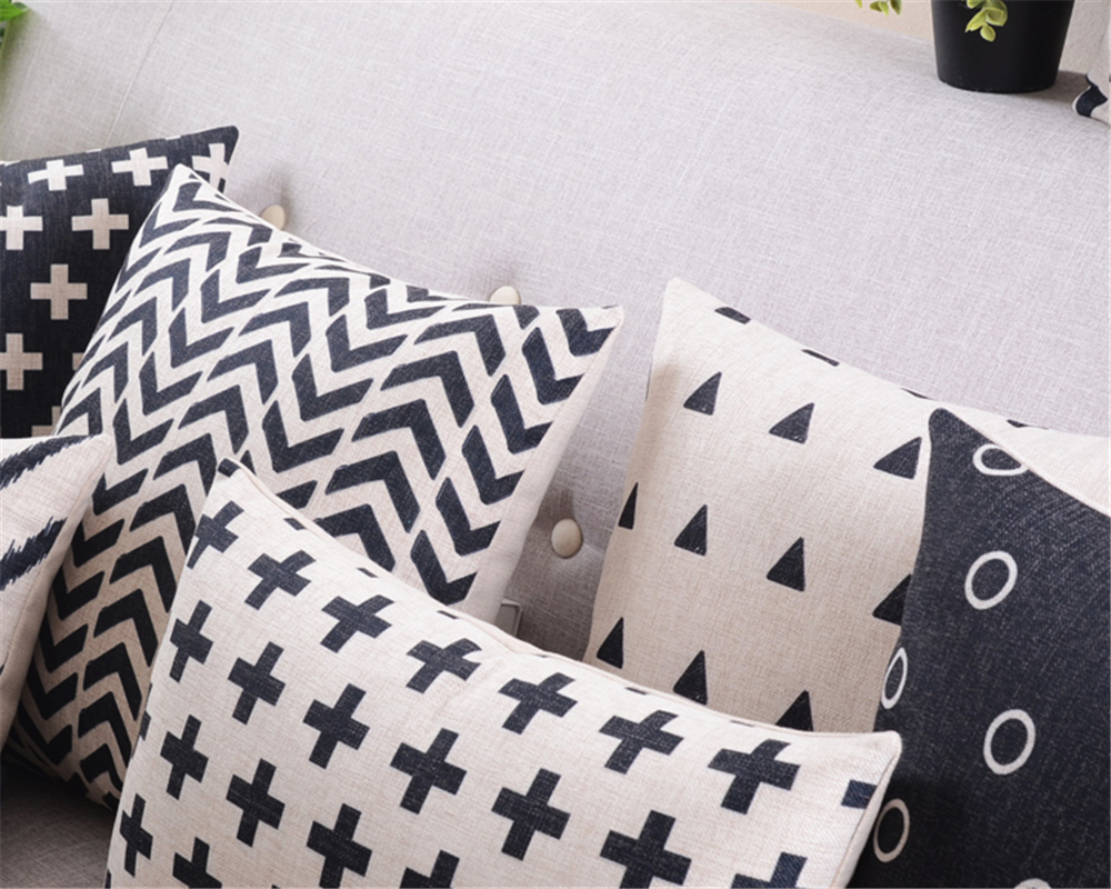 buy wholesale black and white geometric pillows decorate abstract creative seat pillow high quality sofa pillow from reliable