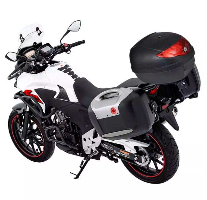 ES entrepôt 36L 72L coffre de moto étanche moteur Top Case pour casque unique moto arrière stockage bagages boîte à outils noir - 6