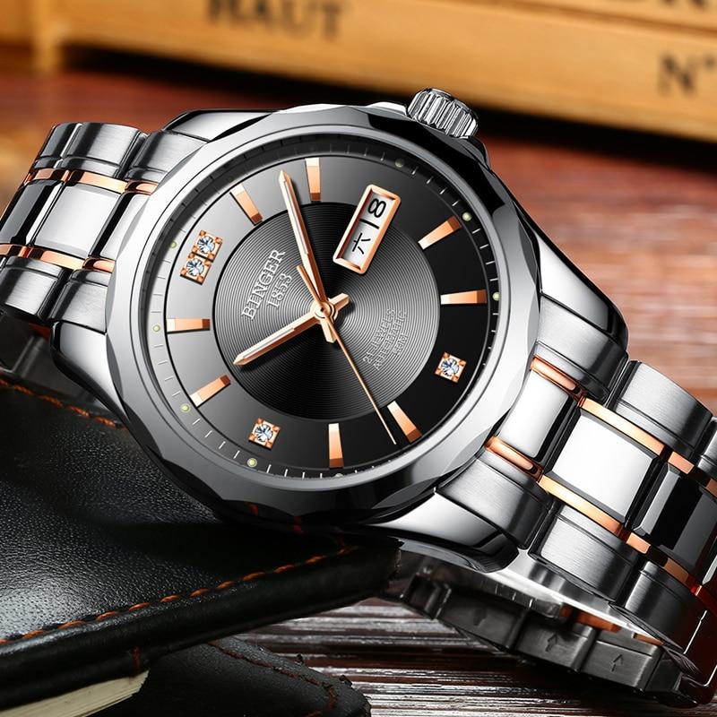 2017 New Binger Men font b Watches b font Luxury Brand Japan Miyota Automatic Mechanical Movement