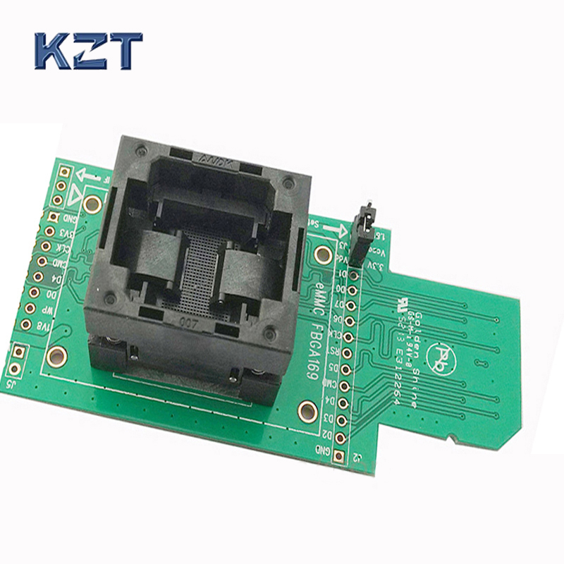 EMCP162 186 socket adapter connector smart digital device GPS device flash memory data recovery burn-in test programming code specific flash lqfp100 78k0 lg2 100gf test adapter