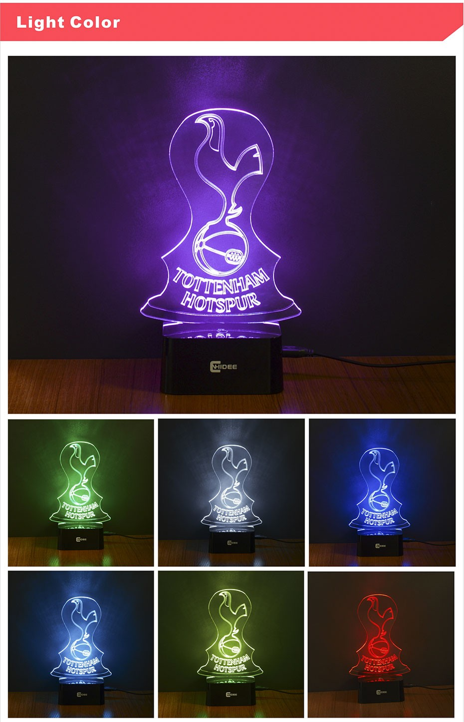 3D Led Lampara Futbol 7 Colors Changing Night Lights as Home Decor Desk Nightlight USB Table Lamps for Football Fans (3)