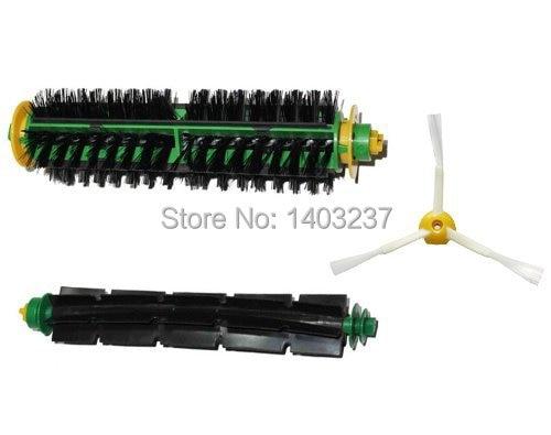 цены на Bristle Brush Flexible Beater Brush 3-armed Side Brush For iRobot Roomba 500 Series 510 530 535 540 550 560 570 580 610 в интернет-магазинах