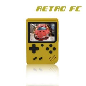Image 3 - 어린이 레트로 미니 휴대용 휴대용 게임 콘솔 플레이어 3.0 인치 블랙 8 비트 클래식 비디오 휴대용 게임 콘솔 RETRO FC 07