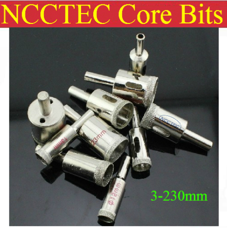 165mm 6.5'' inch NCCTEC Electroplated Diamond core drill bits ECD165 FREE shipping | WET glass ceramics coring tools kicx pro 6020