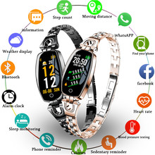 GIMTO Top Brand Smart Watch H8 Women 2019 Waterproof Heart Rate Monitoring Bluetooth For Android IOS Fitness Bracelet Smartwatch