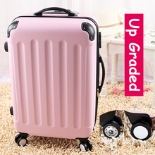 28″ pink 8-universal wheels large capacity trolley luggage bags,female lovely fruit color travel luggage suitcases,gifts for