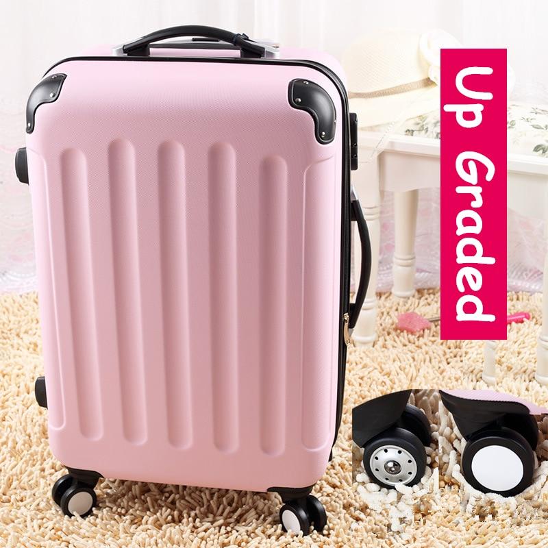 """28 """"рожевий 8-універсальний колеса великої місткості візки багаж сумки, жіночий прекрасний фрукт колір подорожі багажу валізи, подарунки для gir"""
