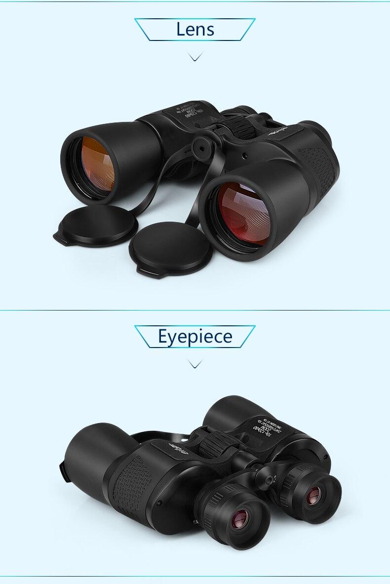 zoom caça telescópio grande angular binóculos profissionais alta definição