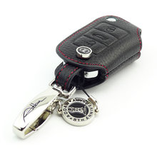 Genuine Leather Car Key Case for Peugeot 2008 3008 301 408 508 Key FOB cover car