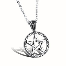 Star Wars Pentagram Stainless Steel Necklace