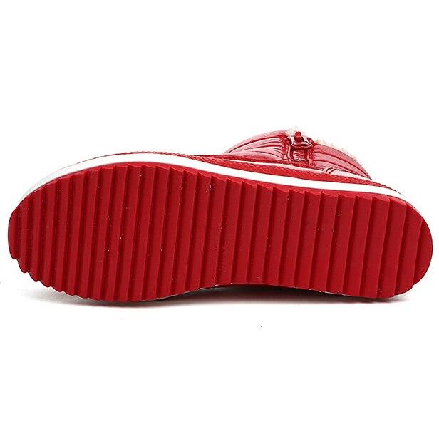 Para Femme Bottes Mujeres Invierno Botines Del rojo Impermeable Tobillo  gris Caliente 2018 Mujer Botas Goma Las Negro Nieve Felpa Zapatos ... 8a7a3a11cb24