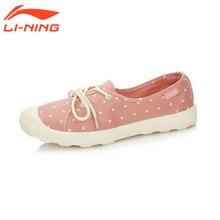 Li-ning mujeres luz de calle shoes walking shoes calzado transpirable zapatillas de deporte de estilo de vida de ocio deportes shoes glal098