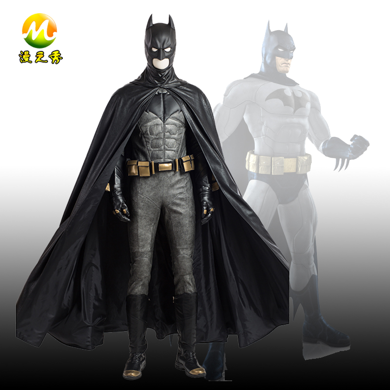 Hot Movie Justice League Superhero Batman Cosplay Costume Full Set for Man Halloween Party Accessories