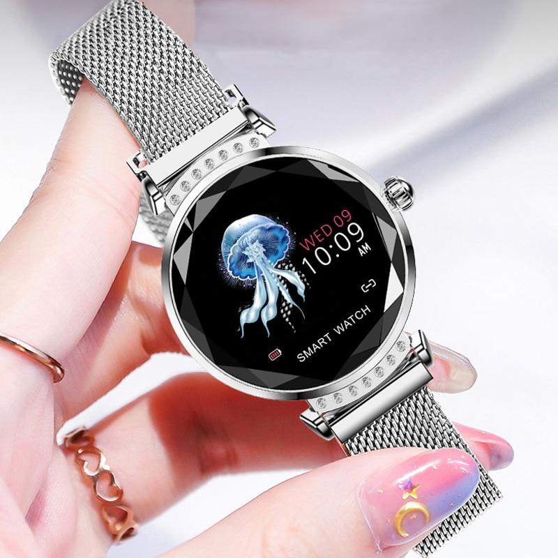Mode Femmes montres intelligentes Étanche Calories montre-bracelet de sport De Luxe Sommeil moniteur de fréquence cardiaque Smartwatch Femmes de Montre Relogio