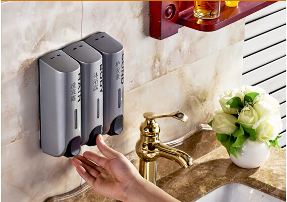 Fashion gray ABS material Liquid Soap Dispensers,bathroom soap dispenser,hotel products
