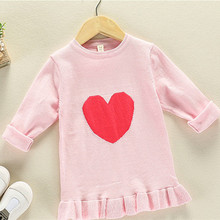 Funfeliz Sweater for Girls Cotton Solid Color Girls Sweaters 2018 Autumn Winter Knitwear Kids Pullover Children Cardigan 2T-8T