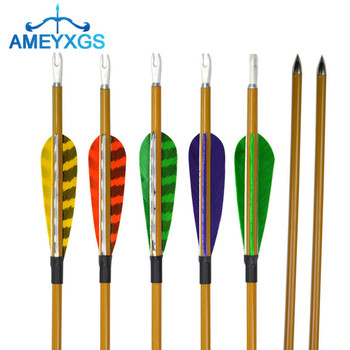 """6Pcs 31"""" Archery Carbon Arrows Spine 900 Carbon Arrow with Natural Feather For Bow Outdoor Training Hunting Shooting Accessories"""