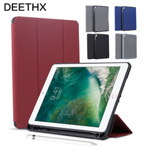Business case for new ipad 2017/2018/Air 2,Air/Pro 9.7 inch,DEETHX,PU surface+TPU soft back+Built-in Pencil Holder Smart Cover