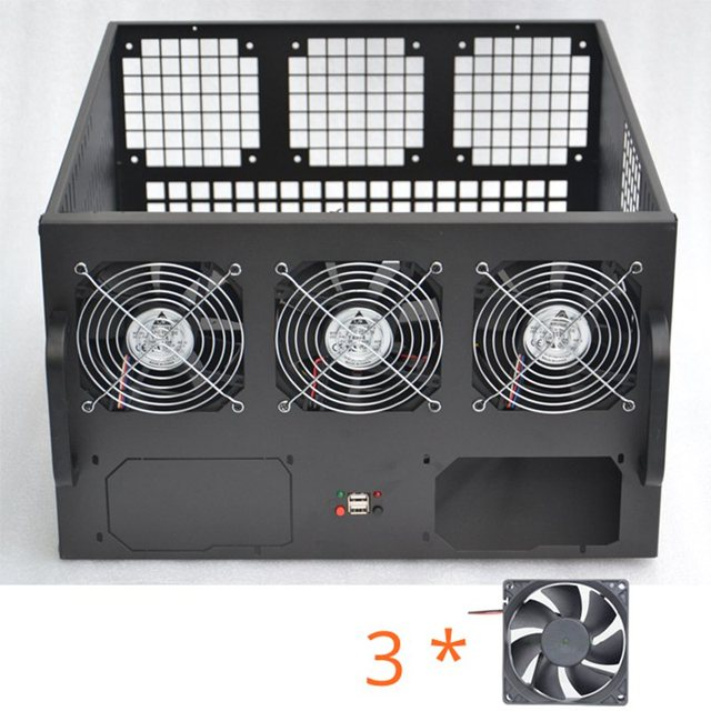 US $73 58 8% OFF|Dual ATX PSU 6U GPU Bitcoin Mining Rig Server Case usb  miner rig frame Chassis cabinet Ethereum miner crypto BTC Mmcoin XMR -in