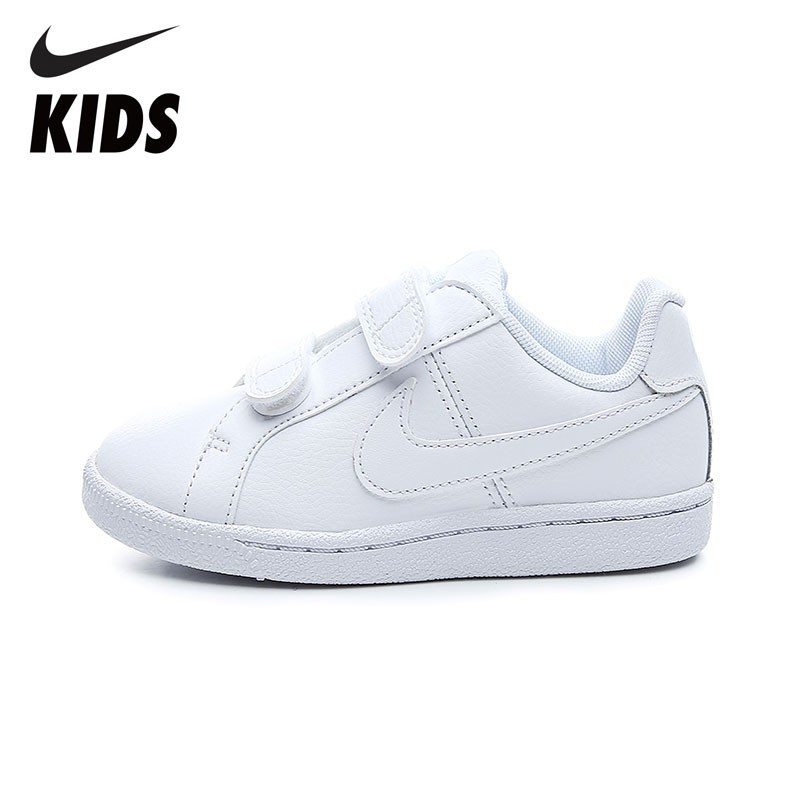 кеды для девочки nike court royale psv pre school цвет бежевый 833655 008 размер 3y 34 NIKE COURT ROYALE (PSV) Breathable Sports Shoes Comfortable Sneakers For Little Kids 833536-102