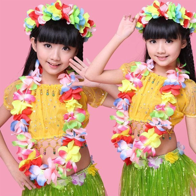Hot saling Hawaiian Flower leis Garland Necklace Fancy Dress Party ...