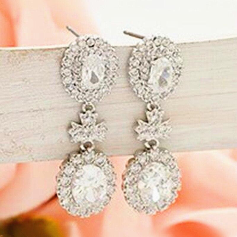 0828e3bea67b Nueva joyería caliente 2018 moda Señora Princesa cristal stud pendientes de  cristal pendientes mujer pendientes de cristal de la manera del envío libre