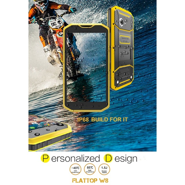 KEN XIN DA Proofing W5 4.0 inch Andriod 5.1 MTK6735 Quad Core IP68 Waterproof Smartphone 2800mAh 4G LTE Network