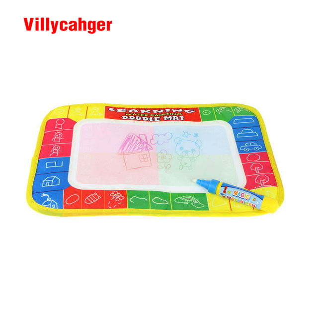 1 Pcs 29X19cm 4 color Mini Water Drawing rug &1 Magic Pen for kids 1366-1