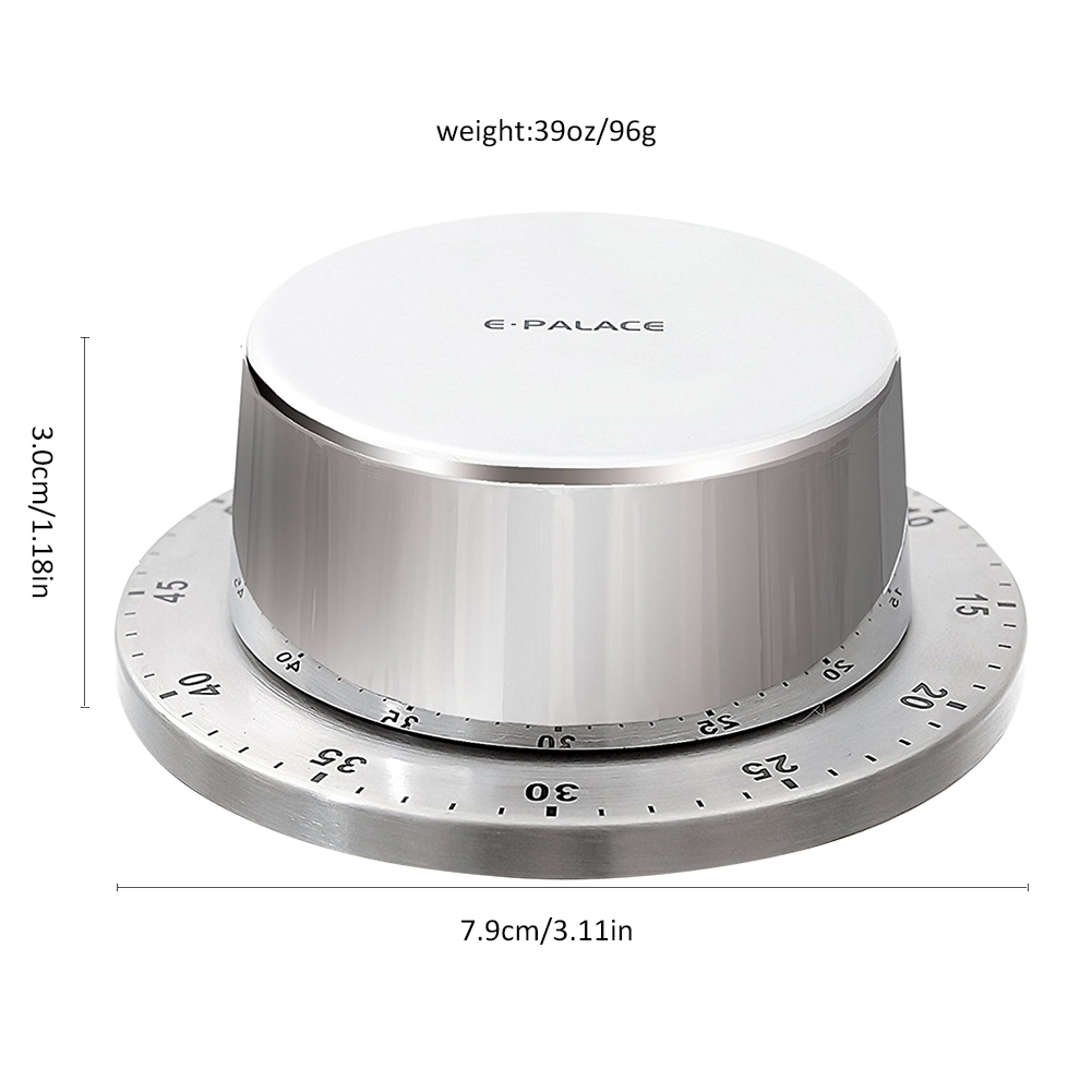 Stainless Steel Magnetic Kitchen Timer Body Mechanical Timer Alarm ...