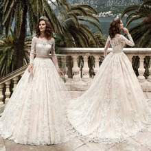 kejiadian Wedding Dress 2019 Long Sleeves A-Line