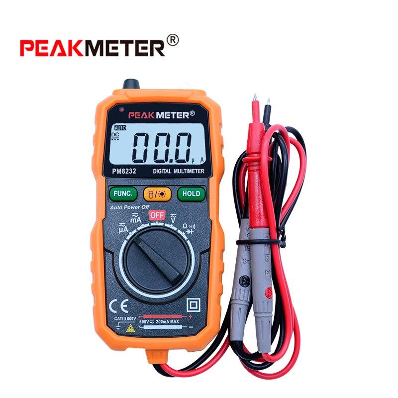 MS8232 Бесконтактный цифровой мультиметр DC/AC Напряжение Ток Тестер Авто Диапазон удержания данных Spotlight Подсветка multitester
