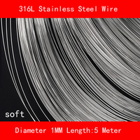 316L Stainless steel wire soft Diameter 1mm Length 5 meter