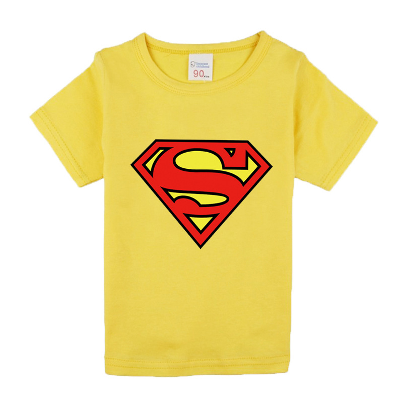 kids clothes 2018 new summer superman tshirt for boys and girls 1-7 years