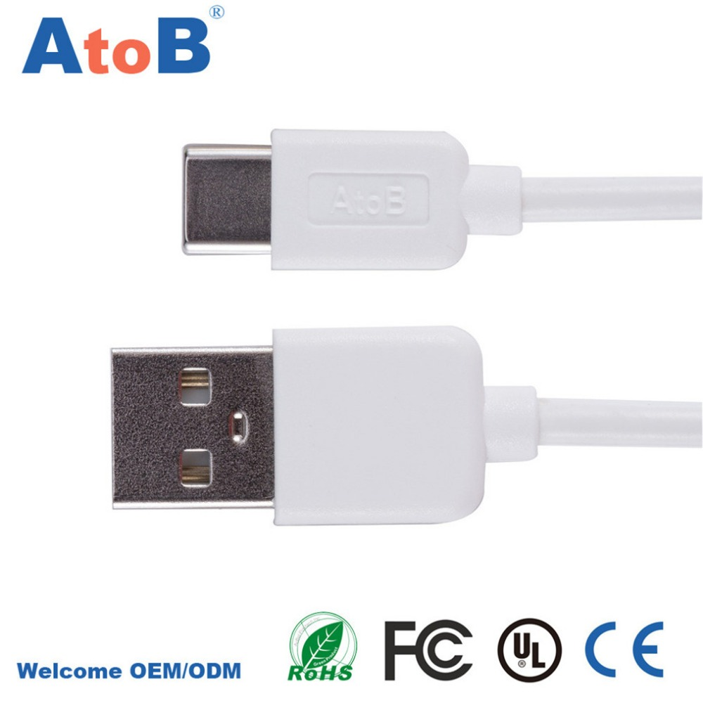 USB Type C Cable PC PVC & Metal Type-C Sync & Fast Charge for Elephone P9000 / P9000 Lite M3 Type C USB