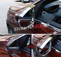 2 pçs/set ABS Cromado Traseiro Tampa Da Viseira Espelho Retrovisor Chuva Sobrancelhas sol Guarda Chuva Escudo Defletor Viseira de Sol Para Peugeot 5008 2017