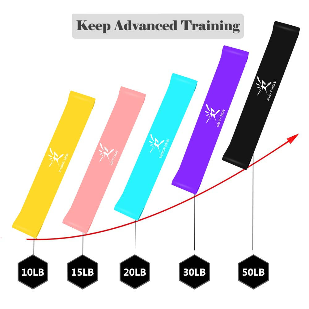 11Pcs Resistance Bands Set Expander Yoga Exercise Fitness Rubber Tubes Band Stretch Training Home Gyms Workout Elastic Pull Rope 3