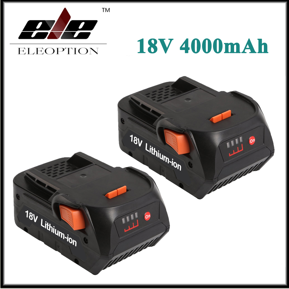 2x Eleoption 4000mAh 18V Li-ion Rechargeable battery for RIDGID CS0921 R84008 R840083 AC840084 AEG BS 18C r840083 tool accessory electric drill li ion battery 18v 3000mah for aeg ridgid 18v 3 0ah power tool parts