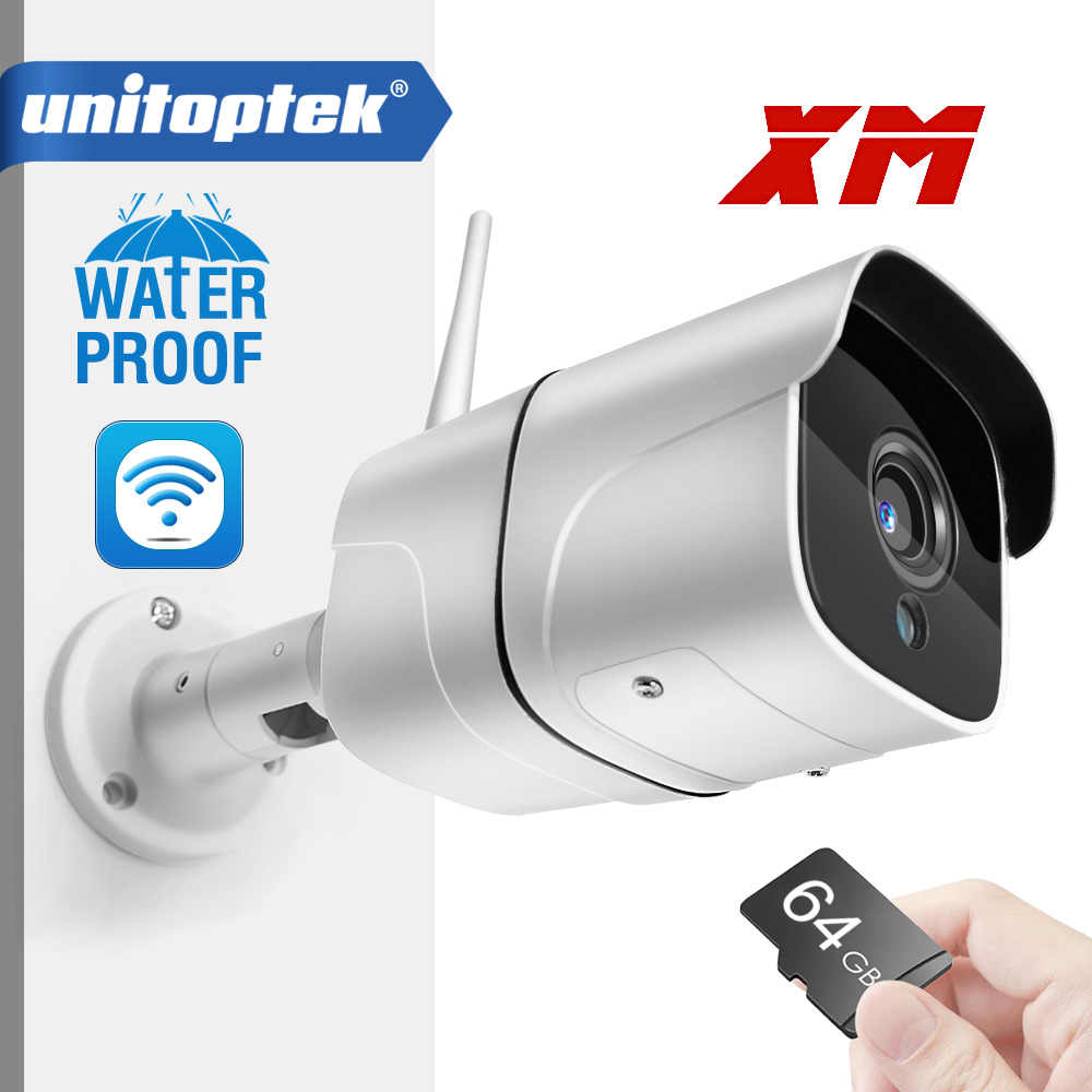 Wireless Wifi IP Camera 1080P Outdoor Bullet ONVIF MAx 64GB SD Card Slot Audio 1920*1080 P2P Wireless Email Alert Night Vision