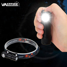 Mini USB Rechargeable Flashlight LED Headlamp Head Torch  Headlight with Battery for Outdoor Camping