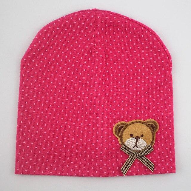 1 Pcs Cute Winter Autumn Newborn Crochet warm Cotton beanie Baby Hat Girl Boy Cap Children Bear Infant Kids Clothes 5