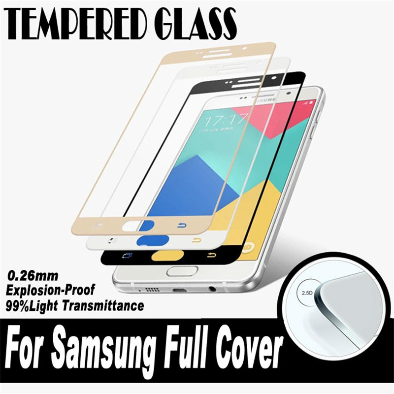 2.5D 0.26mm 9H hardness <font><b>glass</b></font> film For <font><b>Samsung</b></font> <font><b>Galaxy</b></font> A3 <font><b>A5</b></font> A7 <font><b>2016</b></font> <font><b>Glass</b></font> Tempered <font><b>Full</b></font> <font><b>Cover</b></font> Case Screen Protector A310 510 710 image