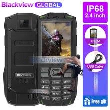 Hızlı kargo için 2019 Blackview BV1000 IP68 smartphone Su Geçirmez Darbeye Dayanıklı Sağlam Cep Telefonu 3000 mAh Mini El Feneri