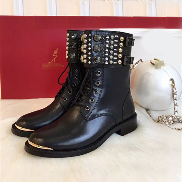 ENMAYER Fashion Summer Boots Knee High Lace-up Peep Toe Genuine Leather
