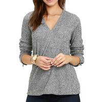 2017 Autumn New Women Knitted Long Sleeve T Shirt V Neck All Matched Casual Tops Female