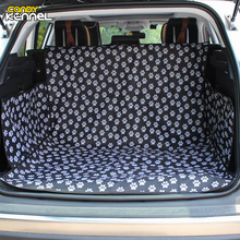 CANDY KENNEL Black Footprint Oxford Waterproof Pet Dog Cat Car Trunk Mat Carrier Cover Pet Mat Blanket Cover Mat Protector D1086