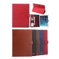 Crazy Horse Patroon PU Lederen Folio Flip Vintage Ultradunne Leather Case Voor iPad Air 2 Cover Case