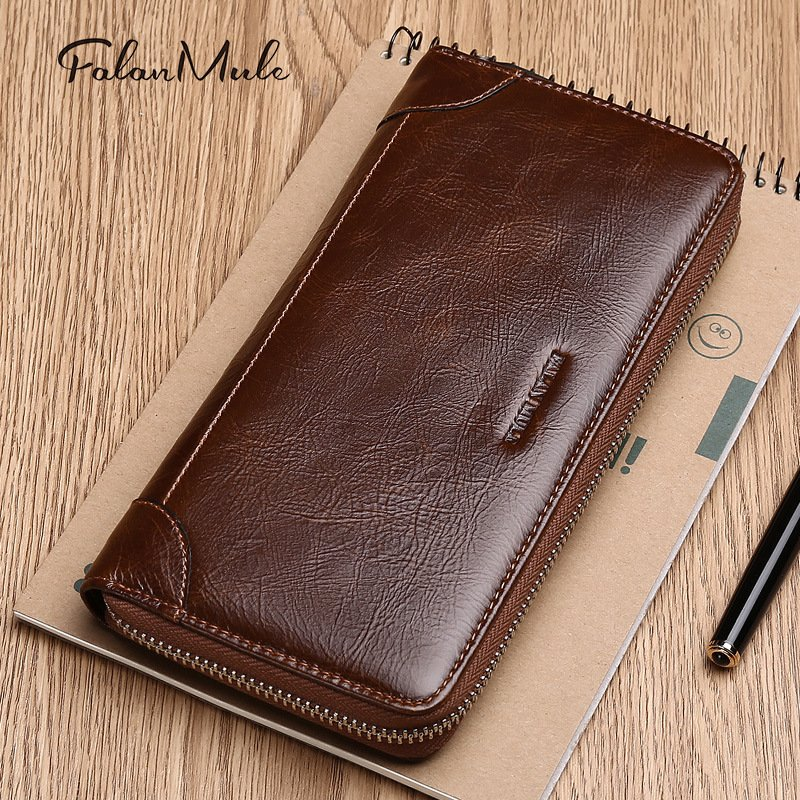 FALANMULE Men leather wallet with strap high quality zipper wallets men famous brand purse male clutch casual style long money b schwarzkopf igora royal краска для волос 10 0 экстрасветлый блондин натуральный 60 мл