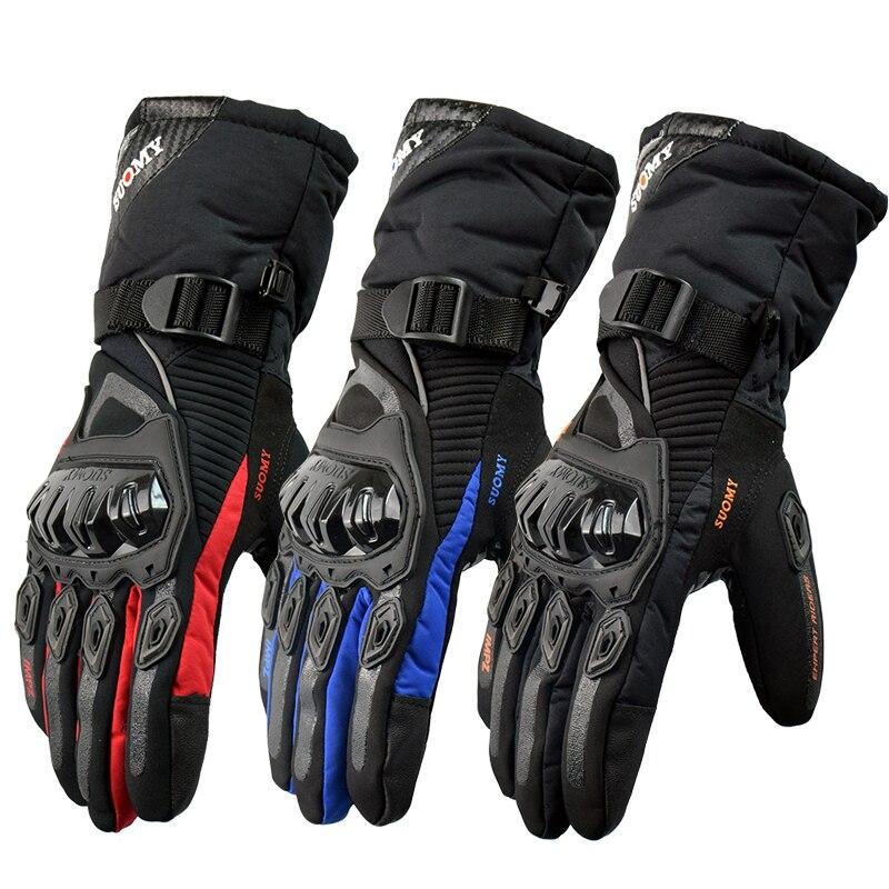 Suomy Бесплатная доставка Зимние теплые мотоциклетные перчатки 100% водонепроницаемые ветрозащитные Guantes Moto Luvas сенсорный экран Motosiklet Eldiveni