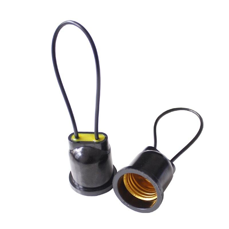 Waterproof E27 Light Bulb Socket Copper Wire Light Bulb Socket Lamp Holder Base For Indoor Outdoor Lighting AC110-240V
