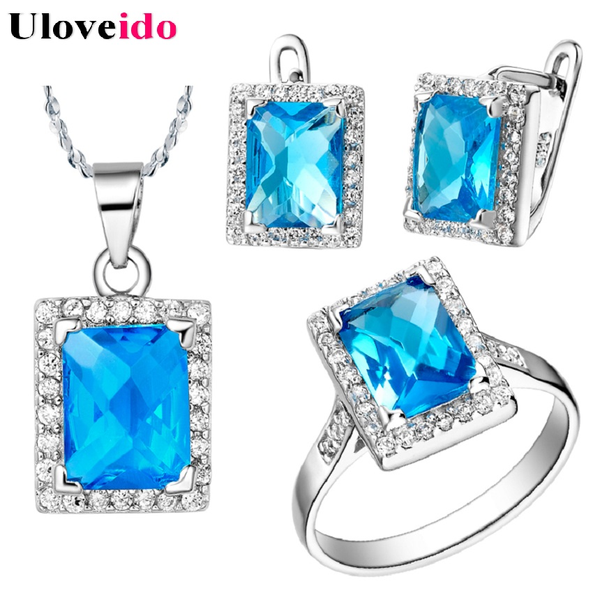 Fashion Ring Necklaces And Earings For women Jewelery Sets Wedding Accessories Berloques Free Shipping 50% Off T483 Bijuterias